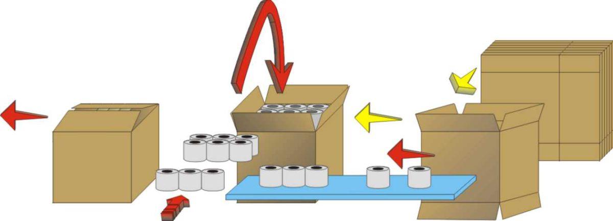 Schema di flusso - Incartonatrice per rotoli riempimento verticale