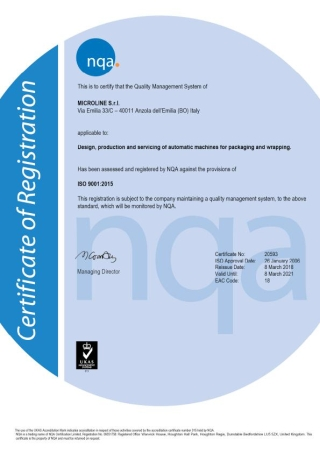 MICROLINE's Quality Certificate