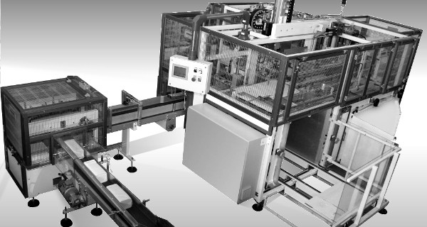 MICROLINE: Incartonatrice ROM | Encartonneuse horizontale pour produits interfoliés | Horizontale Kartoniermaschine für Produkte mit Interfold-Falzung
