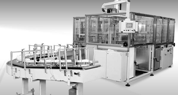 MICROLINE: Incartonatrice Orizzontale con caricatore universale per Fazzoletti, Tovaglioli | Horizontal case packer with universal loader for paper tissues, napkins